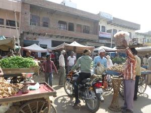 Agra to Jaipur, market