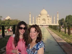 India, Agra, The Taj Mahal, me and Tam