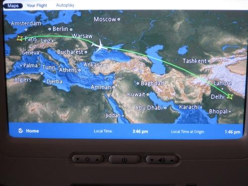 India - Map on Plane.