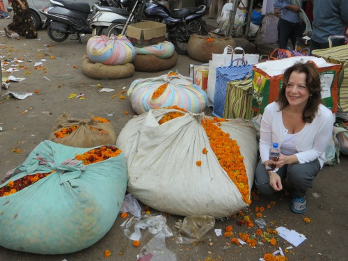 India- Marigolds in Old Delhi