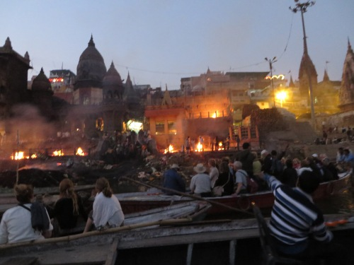 India, Varanasi, Cremations on the Ganges Bank