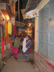 India, Varanasi, Old City at Night #2