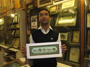 Jaipur, Artist with his work