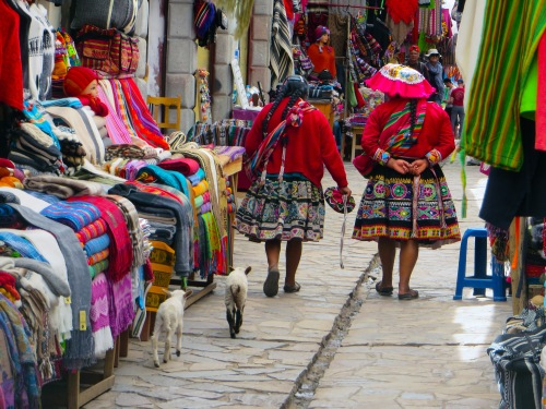 Blog Pisac, Women, lambs